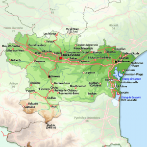 Kart over Corbières